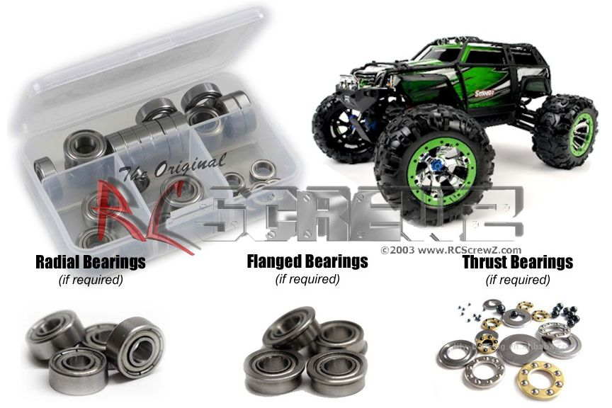 RC Screwz Metal Shielded Bearing Kit for Traxxas 1 10 Summit Extreme Terrain by RCScrewZ