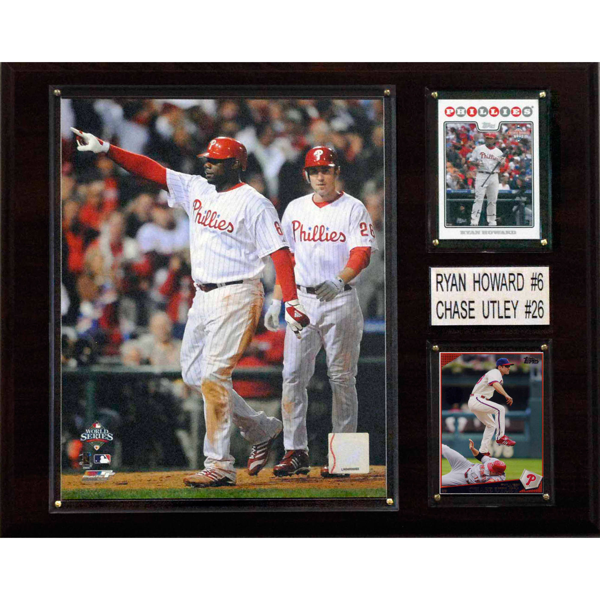C&I Collectables MLB 12x15 Howard-Utley Philadelphia Phillies Player Plaque
