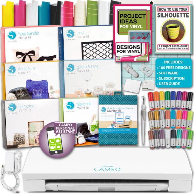 Silhouette CAMEO V3 Mega Kit Machine Bundle Guide Pens Vi...