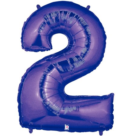 Giant Purple Number 2 Foil Balloon 40