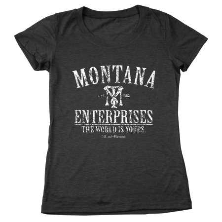 Tony Montana Enterprises Small Heather Black Womens Relaxed Fit Tri Blend T Shirt