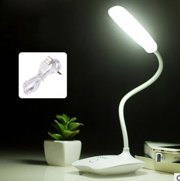 3W 18LED Desk Lamp,Eye-care Dimmable Table Light Lamp with 3 Level Dimmer Touch Control, Adjustable Gooseneck Lamp for... by