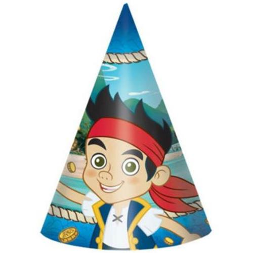 "Jake And The Neverland Pirates 6"" Party Hats (8 Pack) - Party Supplies"