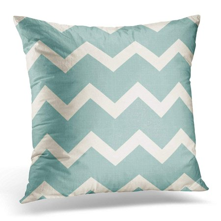 BSDHOME Blue Chevron Retro Geometric Brown Grey Pillow Cover 16x16 Inches Throw Pillow Case Cushion Cover - image 1 de 1