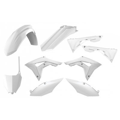 Polisport Complete Replica Plastic Kit White for Honda CRF250R -