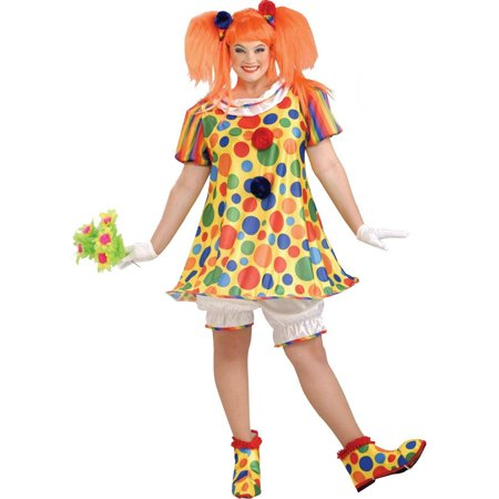 Clown Costume Plus Size (Giggles The Clown Women's Plus Size Adult Halloween Costume, Women's)
