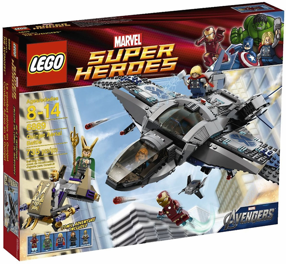 LEGO Marvel Super Heroes Quinjet Aerial Battle Play Set