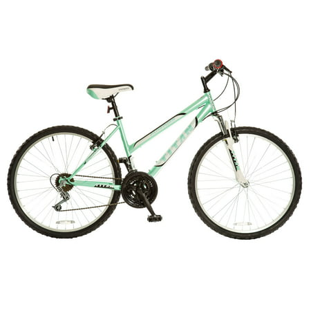 Half Speed Green - TITAN Pathfinder 18-Speed Women's Suspension Mountain Bike, Mint Green