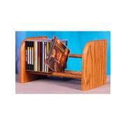 Dowel CD Rack w 1 Row (Honey Oak)