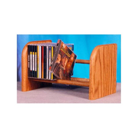Dowel CD Rack w 1 Row (Honey Oak)