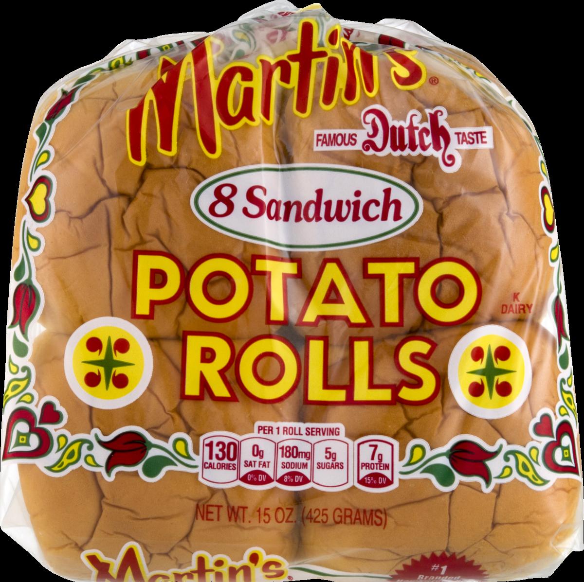 Martin's Potato Rolls 8 Sandwich Rolls (4 Bags)