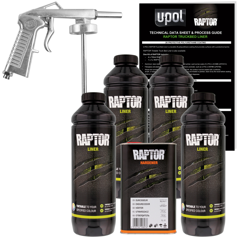 Raptor Tintable Urethane Spray On Truck Bed Liner Spray Gun 4