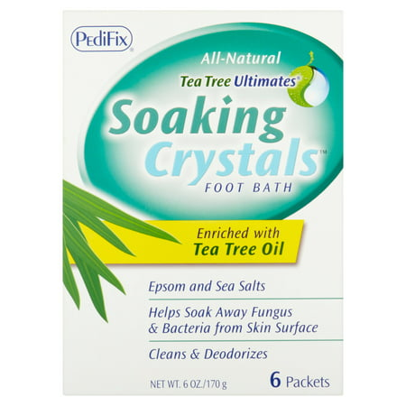 PediFix Tea Tree Ultimates Soaking Crystals Foot Bath, 6 count, 6