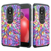 Motorola Moto G6 Play , Moto g6 forge , E5 Case, Soft Silicone Dual Layer [Shock Resistant] Cute Case Cover for Girls Women Phone Case for Moto G6 Play - Rainbow