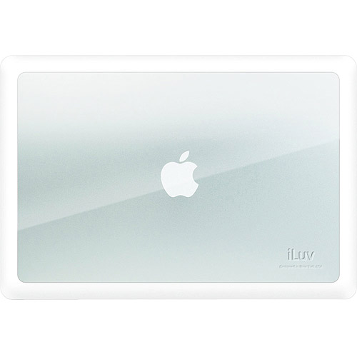 "iLuv 15"" Dual Material Skin for MacBook Pro, White"