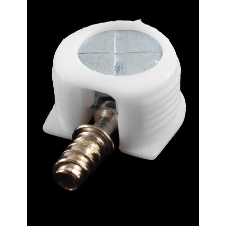 Round Shape Metal Three-in-One Screw in Shelf Support Pin Supporter White 2Pcs - image 1 of 2