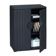 Iceberg Officeworks 2-Shelf Storage Cabinet, Black