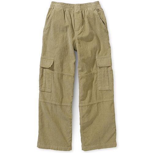 Faded Glory - Boys' Pull-On Corduroy Cargo Pants - Walmart.com