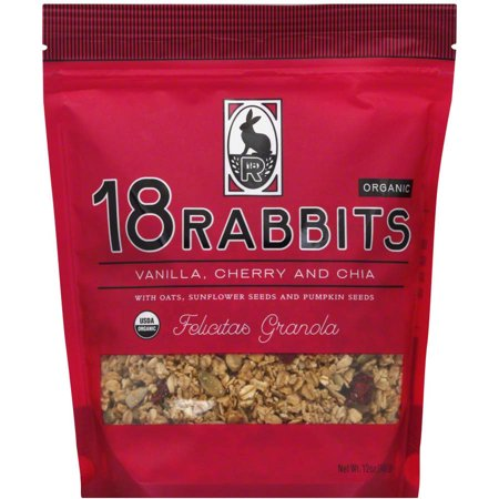 18 Rabbits Organic Felicitas Granola, 11 oz, (Pack of 6)