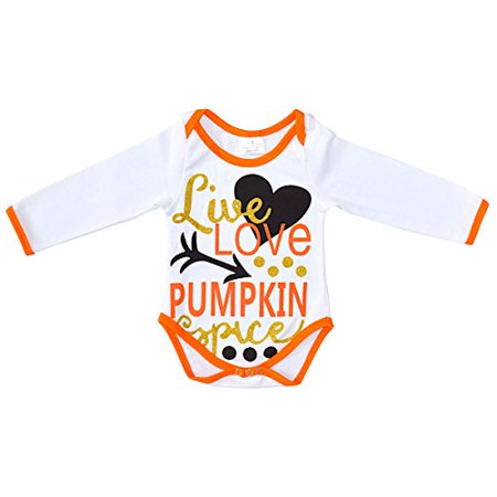 Unique Baby Girls Pumpkin Spice Halloween Onesie (12M) - Spice Girls Halloween Ideas
