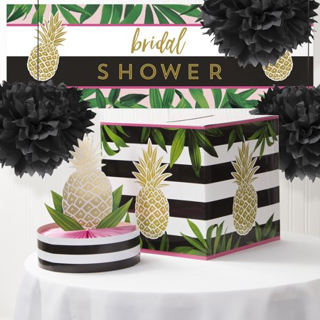 golden pineapple bridal shower decoration kit