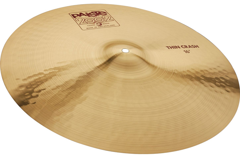 "Paiste 1061216 16"" 2002 Series Thin Crash Cymbal With Integrated Bell Character by"