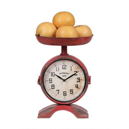 Ten Seconds Studio Metal (3R Studios 10 in. Metal Two-Side Scale Shaped Kitchen Clock)