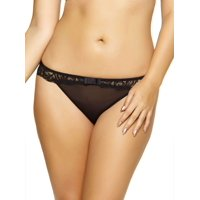 Paramour Women's Plus Size Sophia Thong (Black, Small)