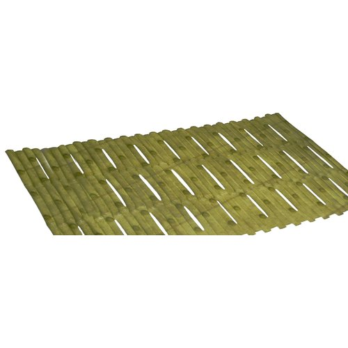 "Bamboo Look Vinyl Bath Tub Mat, Size 16"" x 32"" in Green"