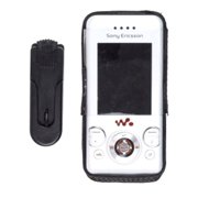 Wireless Solutions Leather Case for Sony Ericsson W580 - Black
