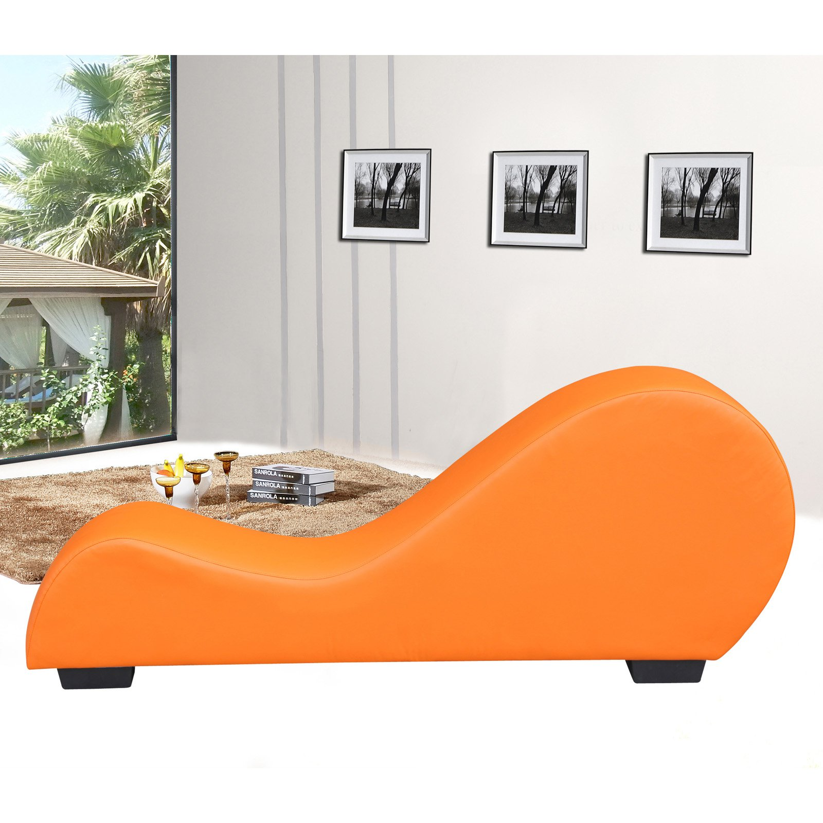 US Pride Furniture Divine Upholstered Chaise Lounge Chair