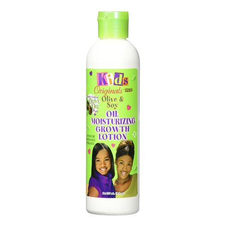 Africas Best Kids Originals Olive And Soy Oil Moisturizing Hair Growth Lotion, 8