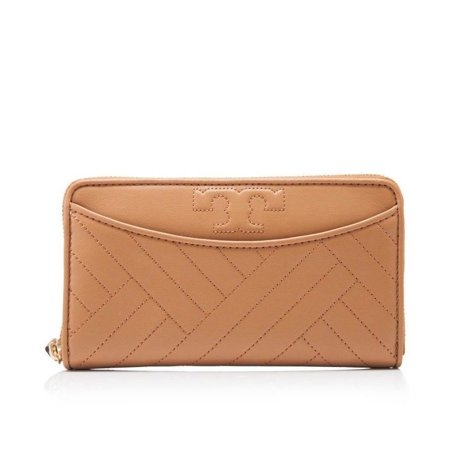 f14cd41d1 Tory Burch - NEW TORY BURCH (50647) ALEXA ZIP CONTINENTAL AGED VACHETTA  QUILT LEATHER WALLET - Walmart.com