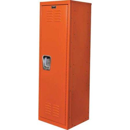 Mini Lockers For Kids (HALLOWELL HKL151548-1HP Kid Locker, Orange, 15inW x 15inD x 48inH )