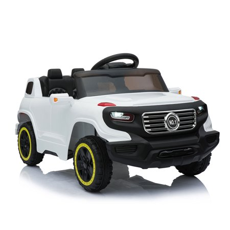 Jaxpety 6V Ride On Car Suv Kids W/ MP3 Electric Battery Power RC Remote Control White (Corvette Electric Car For Kids)