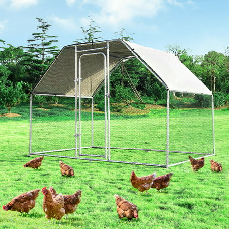 Costway Large Walk In Chicken Coop Run House Shade Cage 9.5' x 6.5' with Roof