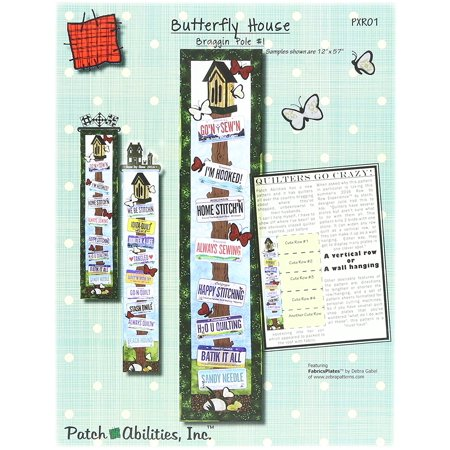 Patch Abilities PABPXR01 Butterfly House Pattern, Butterfly house pattern By Patch Products - Mommy Patch Products