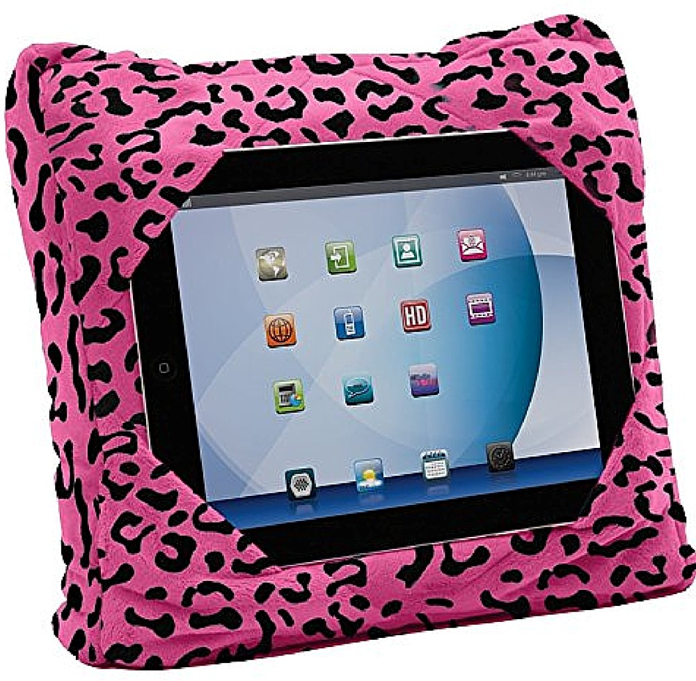 As Seen on TV GoGo Pillow Tablet Holder, Pink Cheetah