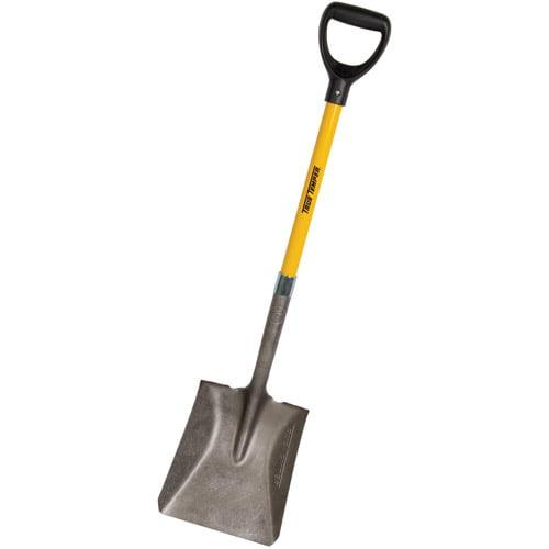 Ames 163034800 16 Gauge Steel Square Shovel With Fiberglass Handle