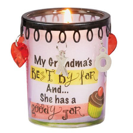 4 Charmbiance Grandmother Grandma's Goodies Scented Glass Votive Soy Candles