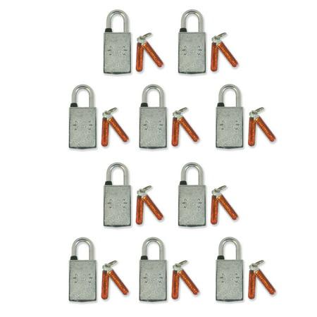 Magnetic Padlock Keyed Alike, Set of 10 - Candado Magnetico, Abre con Llave Magnetica. Ocupa Casilleros 40 mm Keyless Padlock