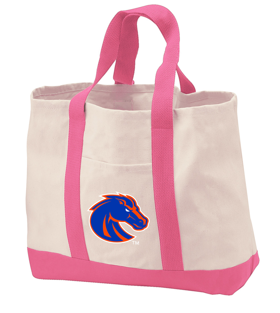 Boise State Tote Bag CANVAS Boise State Tote Bags for TRAVEL BEACH SHOPPING
