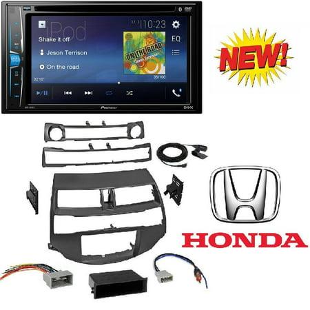 Car Radio Stereo Install Dash Kit Harness Antenna for 2008-2012 Honda Accord With Pioneer AVH-200EX Car 6.2