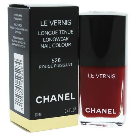 Le Vernis Longwear Nail Colour - 528 Rouge Puissant by Chanel for Women - 0.40 oz Nail Polish Chanel Le Vernis Nail Polish