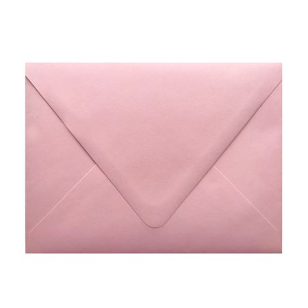 Contour Euro Flap Pastel Pink 25 Boxed A7 (5-1/4 x 7-1/4) 70lb Envelopes Perfect for 5 x 7 Invitations, Announcements, Weddings Showers by The Envelope Gallery (Wedding Envelope Box)