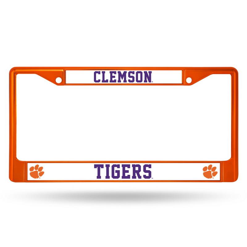 Clemson Tigers Metal License Plate Frame - Orange