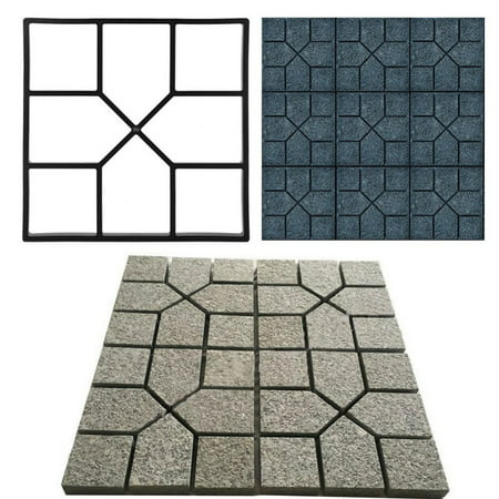 Ashata Paving Pavement Concrete Mould Stepping Stone Mold Garden Lawn Path Paver Walk ()