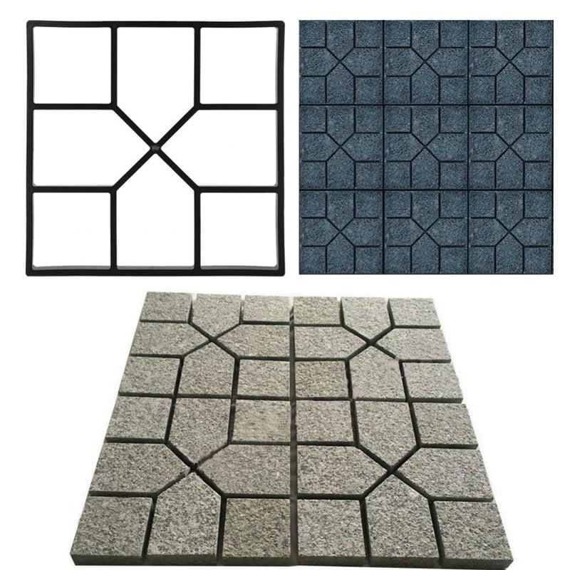 Ashata Paving Pavement Concrete Mould Stepping Stone Mold Garden Lawn Path Paver Walk
