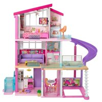 Barbie DreamHouse Dollhouse with Wheelchair Accessible Elevator, Pool and Slide, Gift for 3 to 8 Year Up