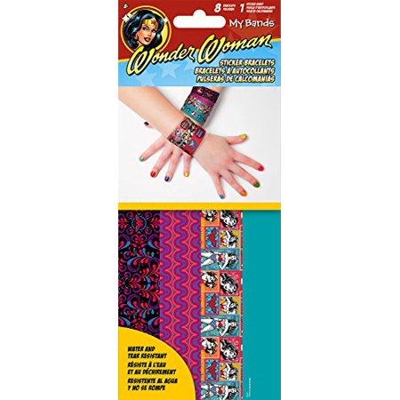 Sandylion Wonder Woman Mybands Sticker Bracelets